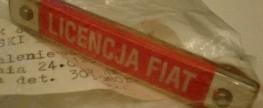 Licencja Fiat – emblemat na sprzedaż