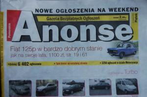 Anonse-125p