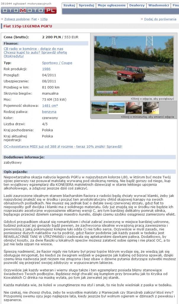 FSO 125p otomoto maks
