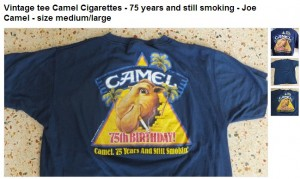 Camel Cigarettes 75 years and still smokes